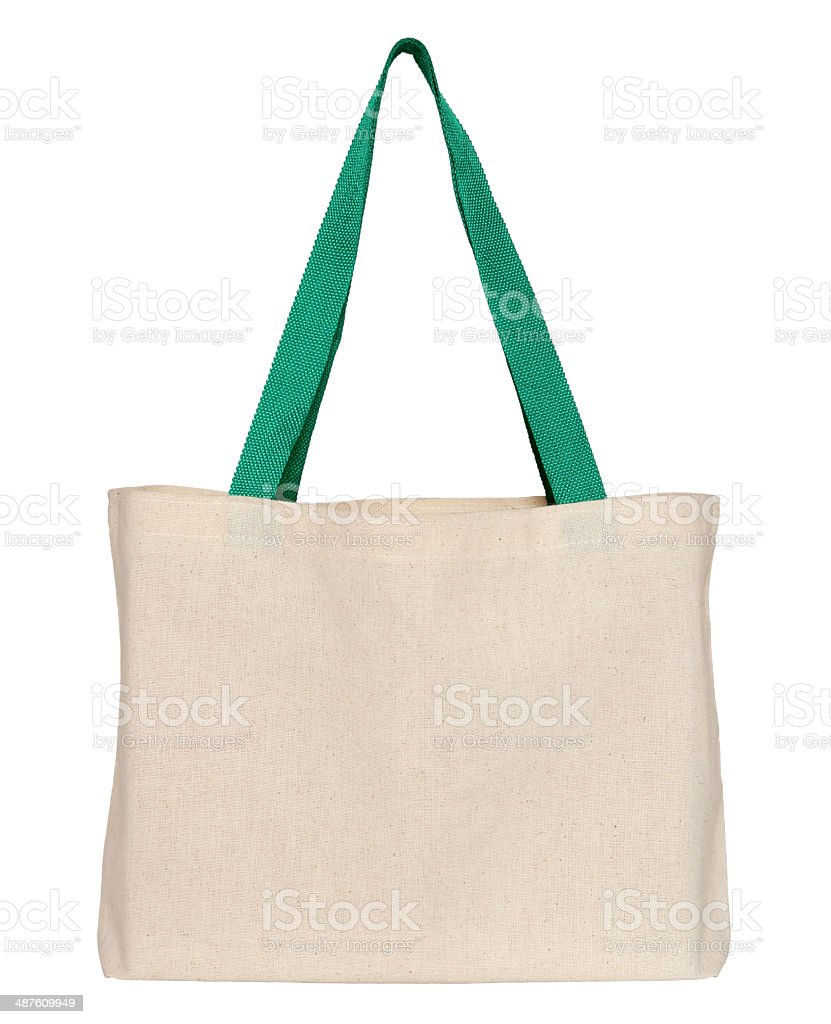fabric bag (clipping path) stock photo