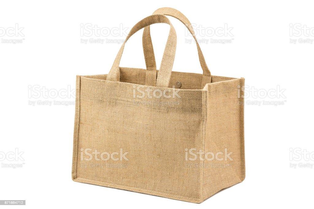 Fabric bag stock photo