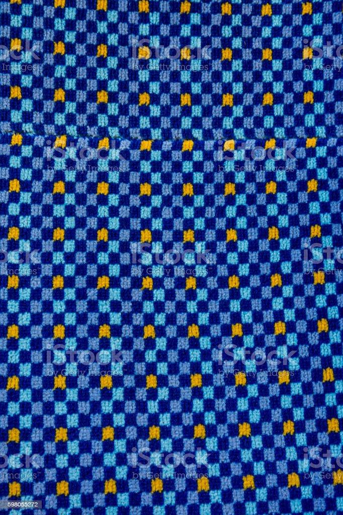 Fabric Blue Square Eye Catching Pattern stock photo