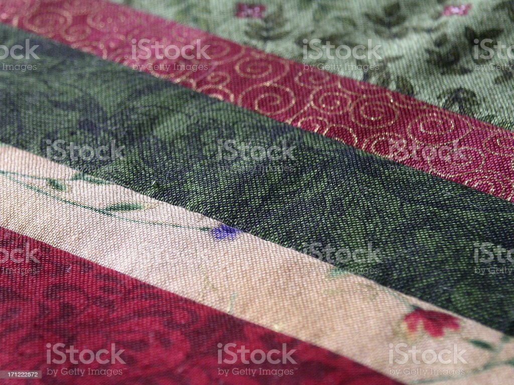Fabric - Calico Stripes royalty-free stock photo