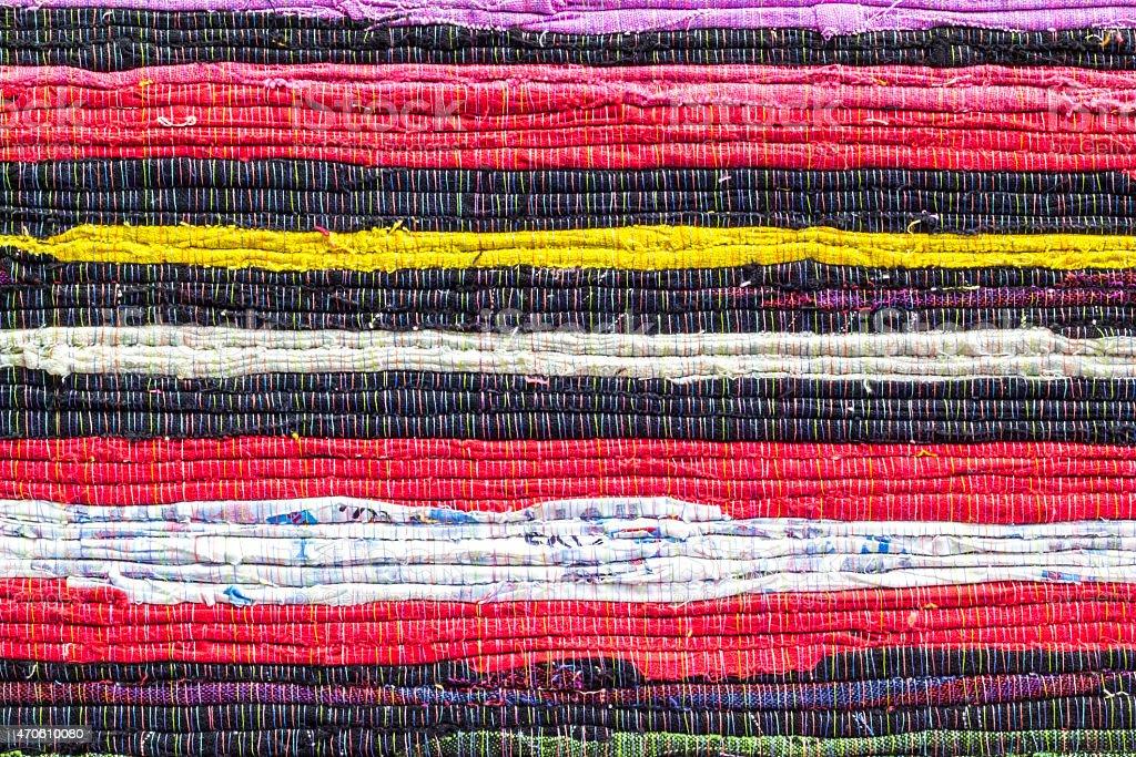 Fabric colourful alternation pattern stock photo