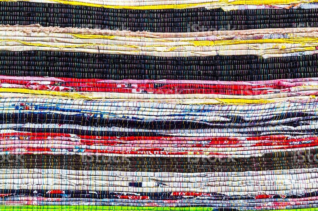 Fabric colurful detail alternation  pattern stock photo