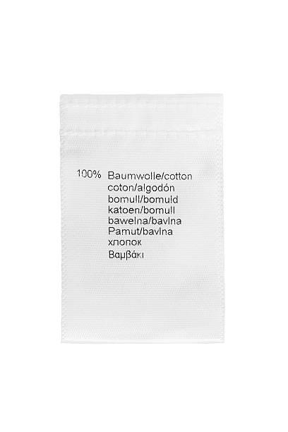 Fabric composition label stok fotoğrafı
