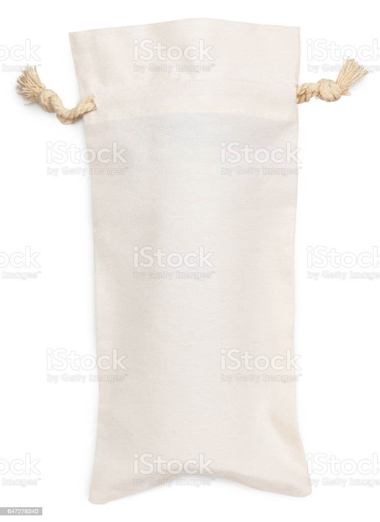 fabric cotton bag isolated on white stock photo