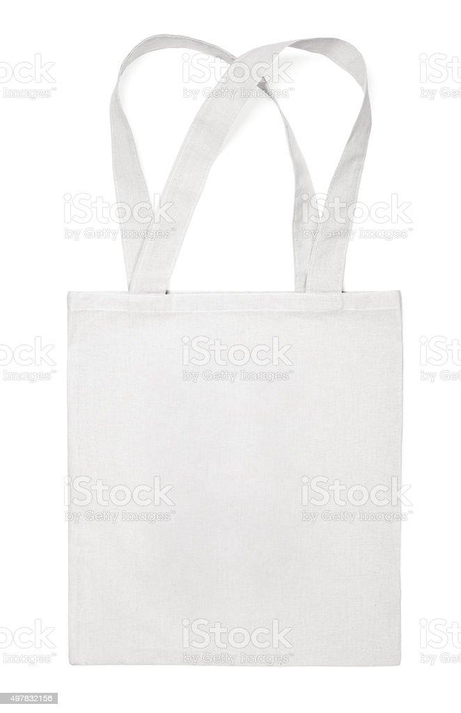 Tejido de algodón ecológica de bolsa en blanco - foto de stock