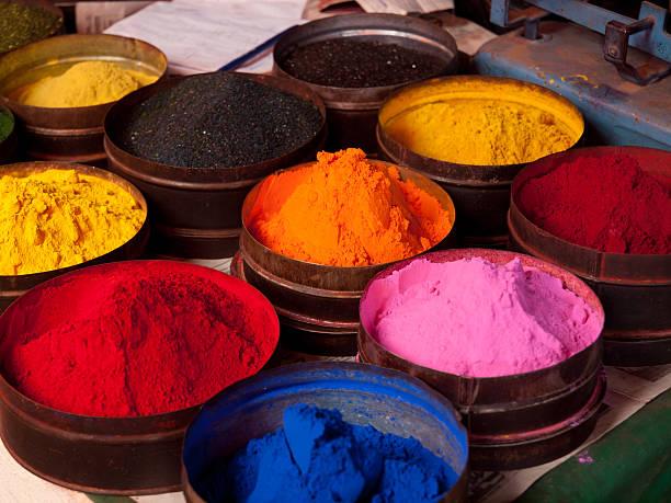 tkanina barwników w cusco, peru - barwnik zdjęcia i obrazy z banku zdjęć