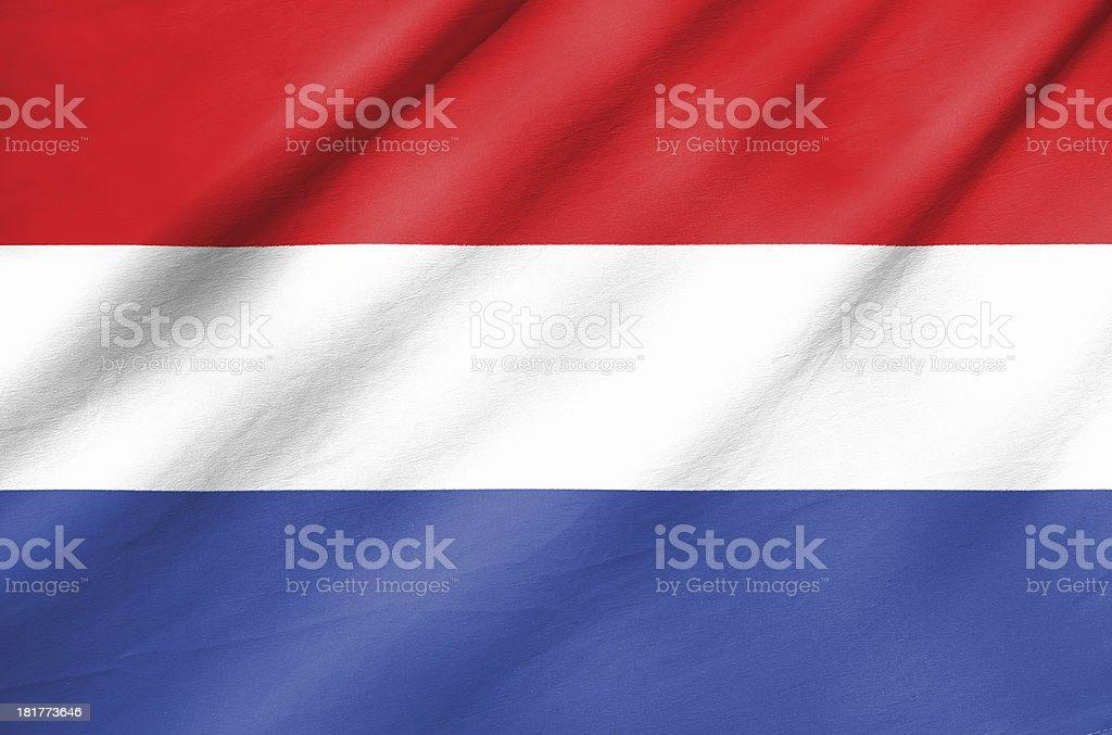 Fabric Flag of Netherlands royalty-free stock photo