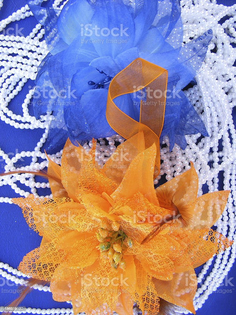 fabric flowers royalty-free stock photo