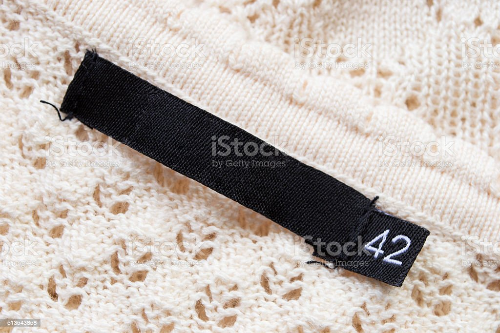 Fabric label stock photo
