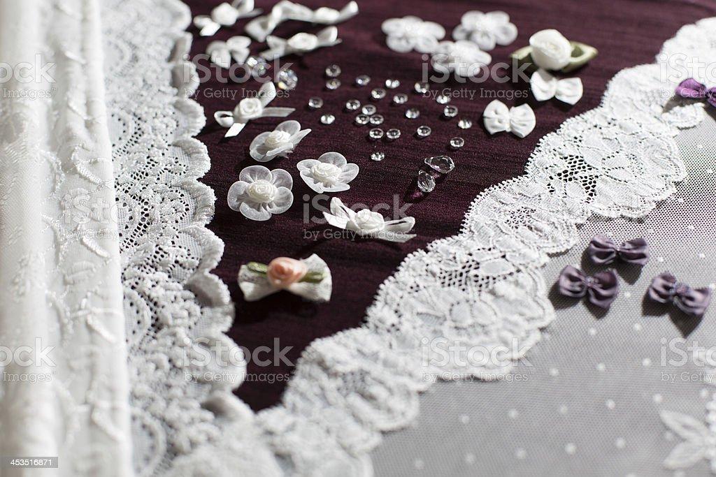 Material, Dessous tull und verschiedenen Nähen Material – Foto