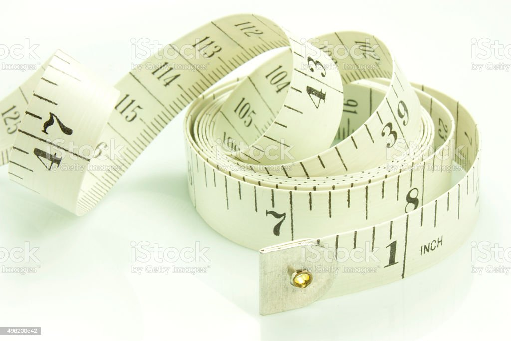 fabric measuring tape stock photo
