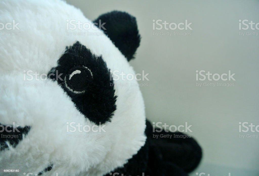 Fabric panda stock photo