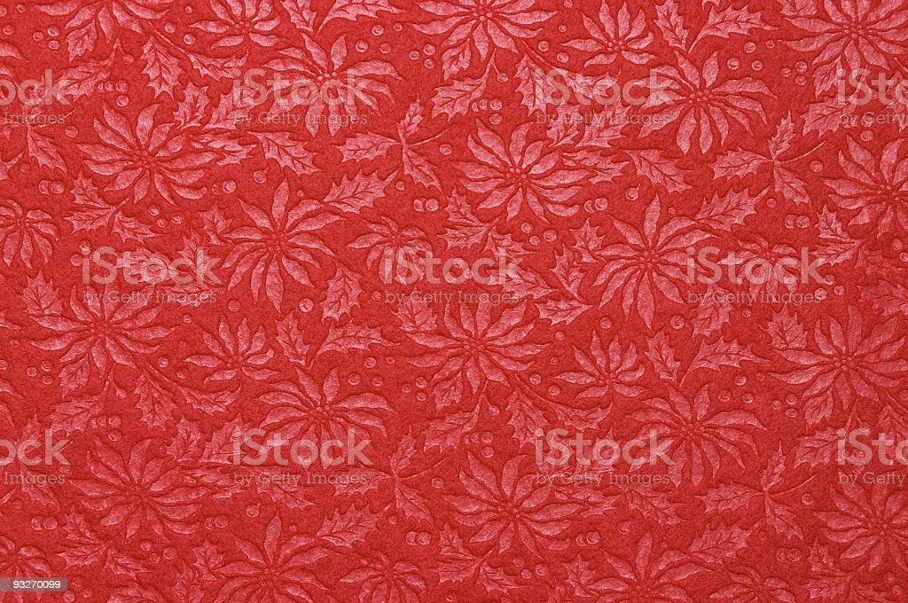 Fabric Patterns - Poinsettia royalty-free stock photo