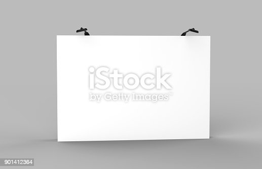 1051623396istockphoto Fabric Pop Up basic unit Advertising banner media display backdrop. Blank white 3d render illustration 901412364