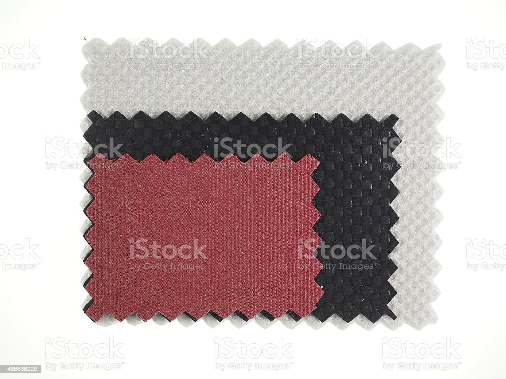 Fabric samples stock photo
