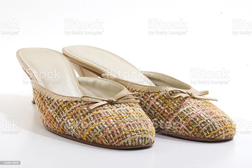 Fabric shoes royalty-free stock photo