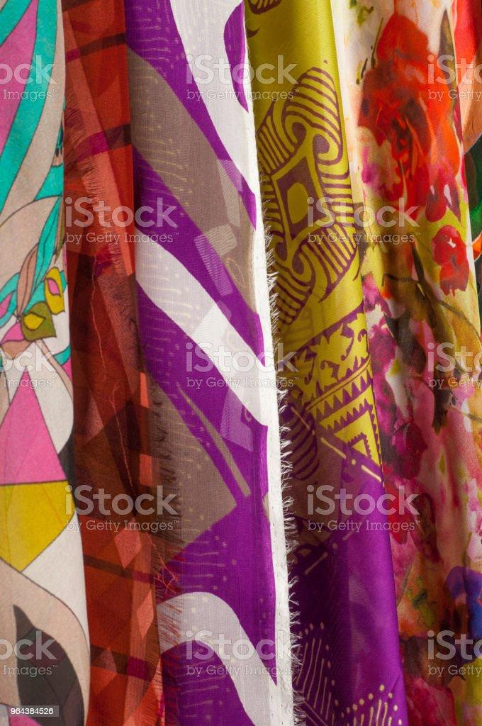 Stof zijde textuur. abstract schilderij - Royalty-free Batik Stockfoto