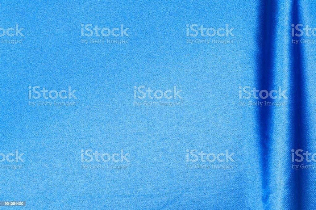 stof zijde textuur. achtergrond. blauwe kleur - Royalty-free Achtergrond - Thema Stockfoto