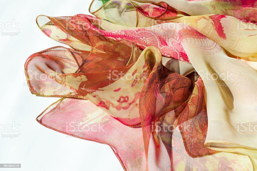Stof zijde textuur, kleur, abstractie - Royalty-free Batik Stockfoto