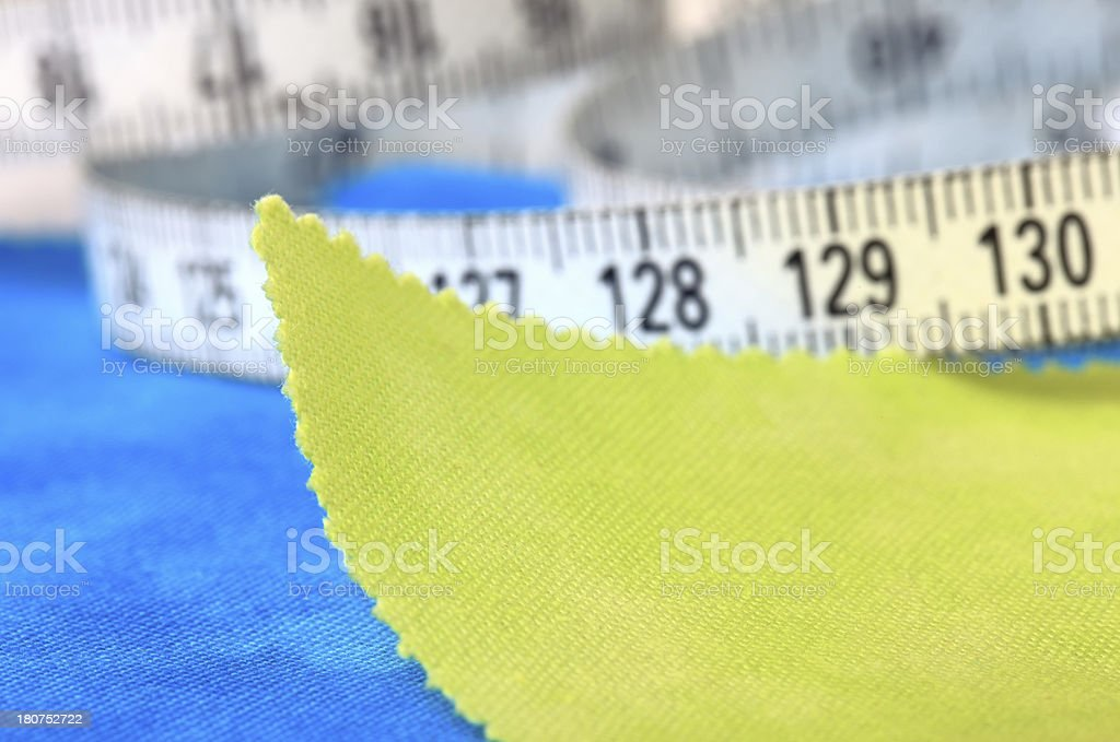Fabric Swatch and Tape Measure royalty-free stock photo