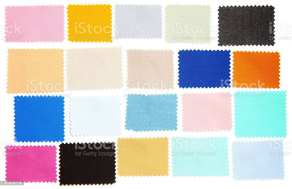 Fabric Swatch stock photo