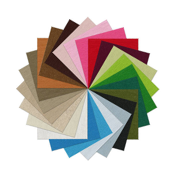 Fabric Swatch (Clipping Path) stock photo