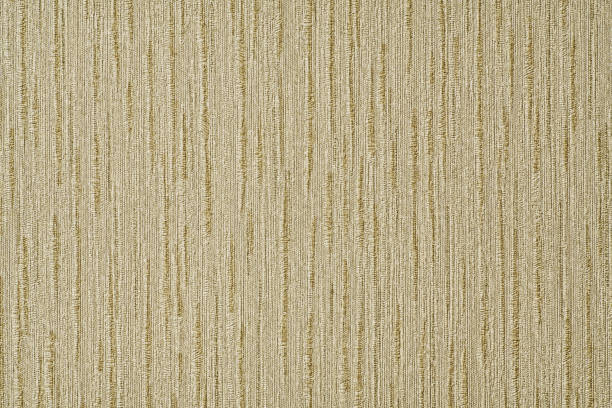Fabric Texture Background Material, Gold Color and Vertical Stripes. stock photo