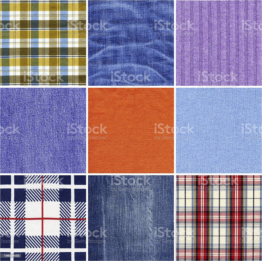 Fabric textures royalty-free stock photo