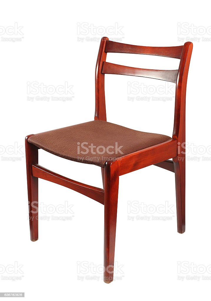 Fabric Upholstered Retro Wooden Chair Stock Photo More Pictures Of