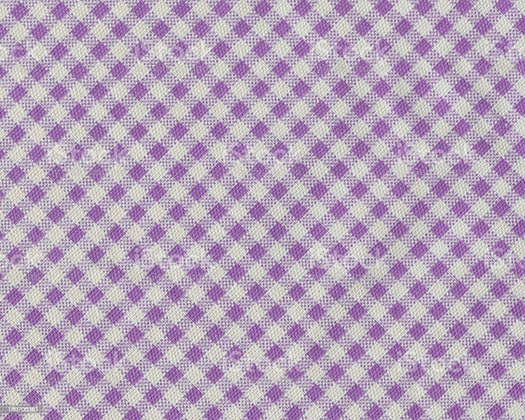 fabric with purple gingham pattern royalty-free stock photo