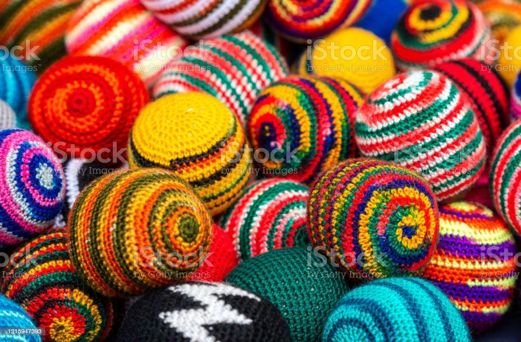 Fabric Wool Balls Handicraft Otavalo Ecuador Stock Photo Download Image Now Istock