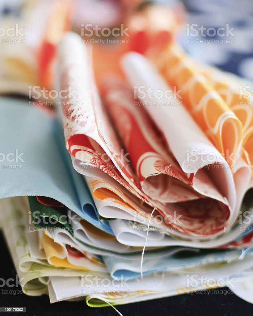 Fabrics for Quilting royalty-free stock photo