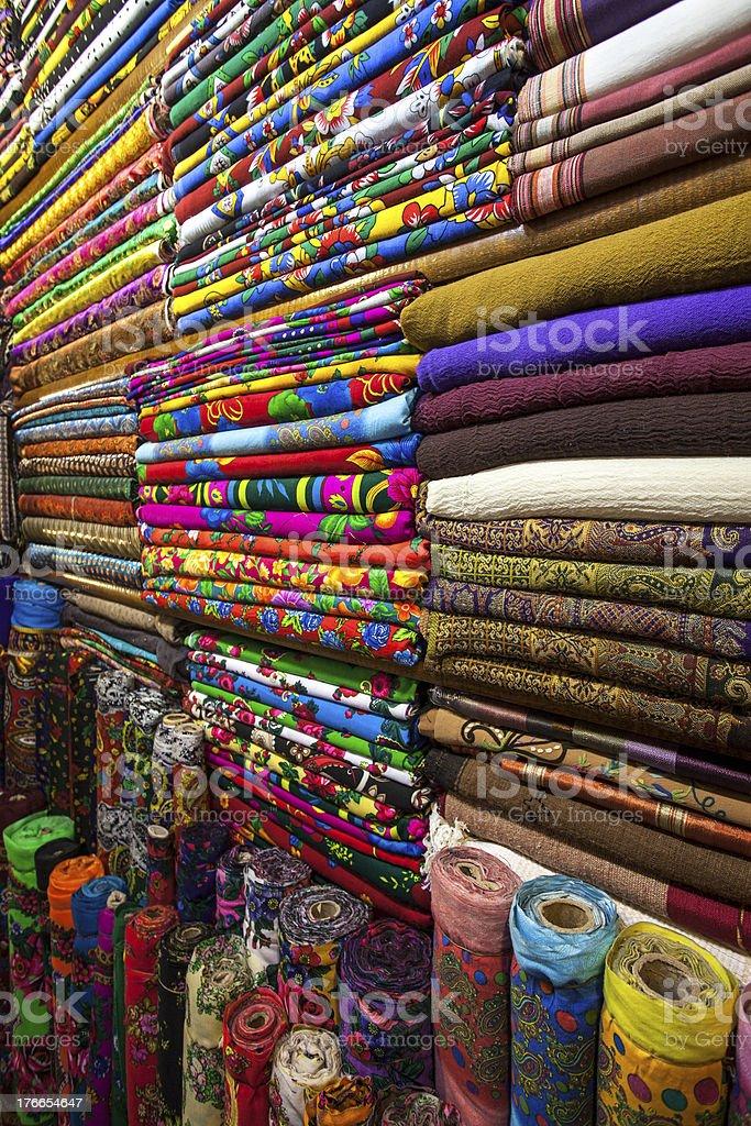 Fabrics shop royalty-free stock photo