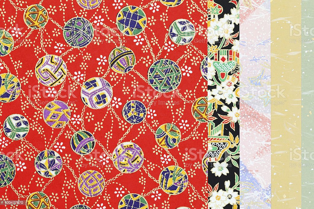 Fabrics with Japanese patterns royalty-free stock photo