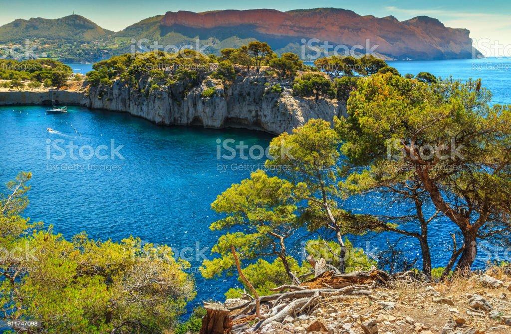 Fabelhafte Calanques de Port-Pin in Cassis in der Nähe von Marseille, Frankreich – Foto