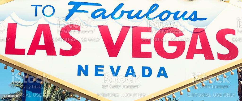 Fabulous Las Vegas sign on the strip royalty-free stock photo