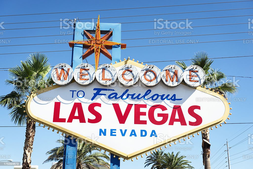Fabulous Las Vegas sign on the strip royalty-free stock photo