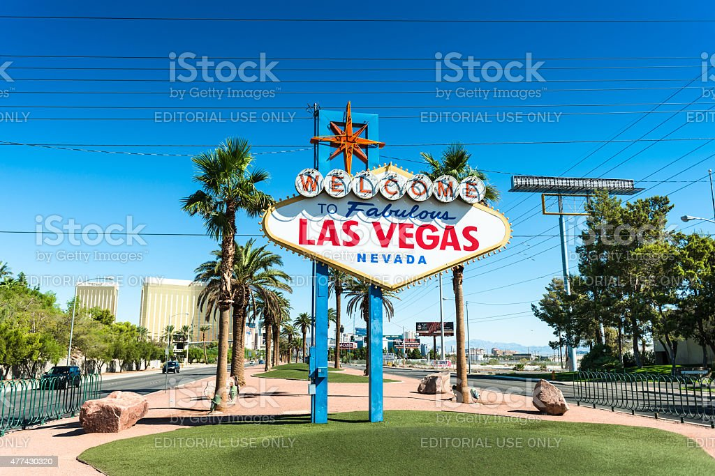 Fabulous Las Vegas sign on the strip stock photo