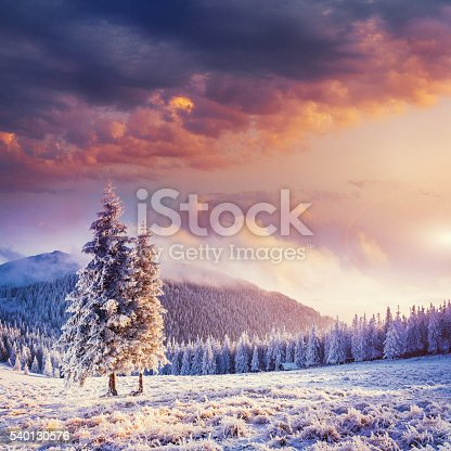 istock Fabulous winter landscape in the mountains 540130576