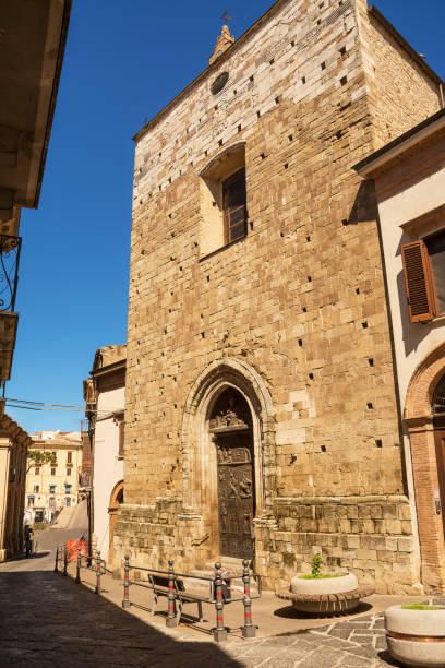 Facade and entrance to the Sanctuary of the Eucharistic Miracle stock photo