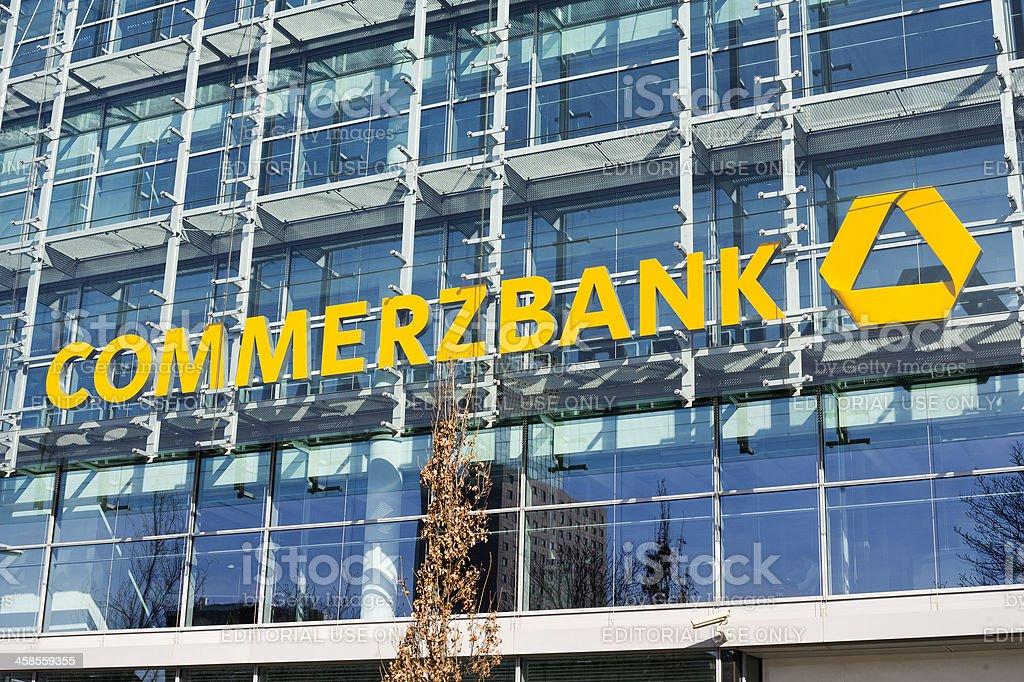 Fassade und logo der Commerzbank, Frankfurt am Main – Foto