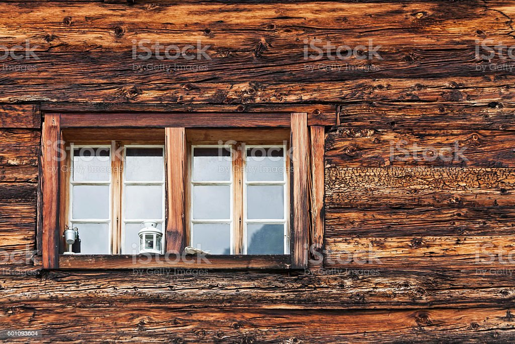 Facade and window stock photo