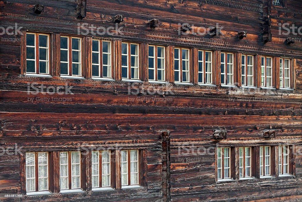 Facade and windows stock photo
