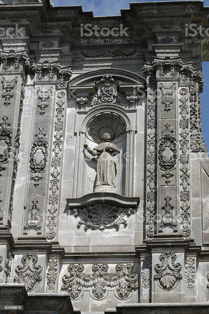 facade detail Iglesia de La Campania, Quito, Ecuador royalty-free stock photo