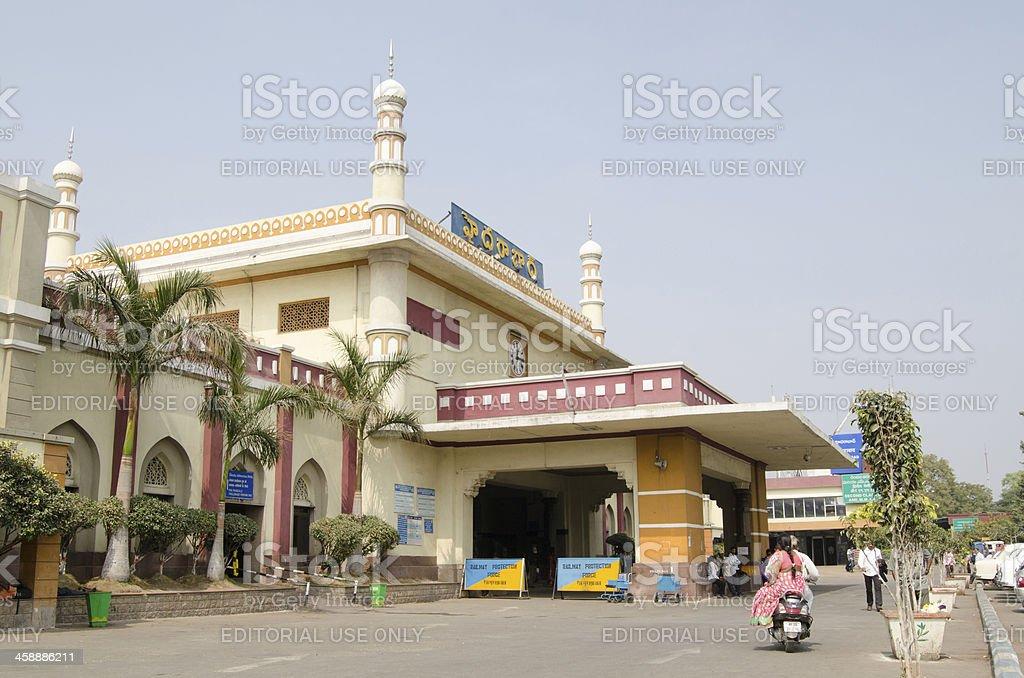 Facade, Hyderabad Railway Station royalty-free stock photo