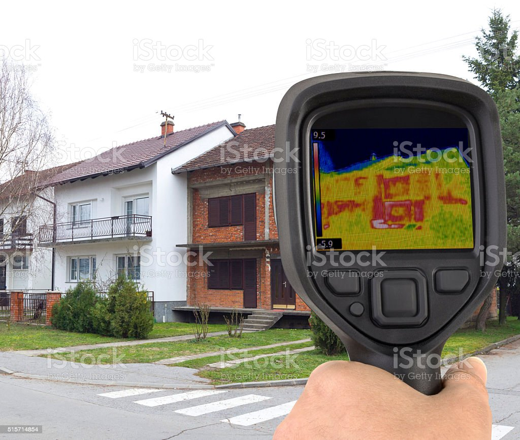 Facade Infrared Leak stock photo