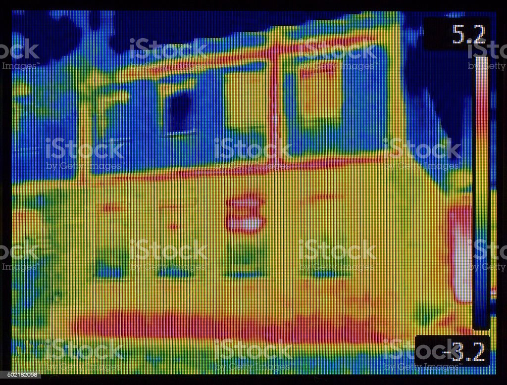 Facade Leaking Infrared stock photo