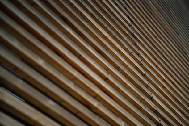 facade made of wooden stripes - com portada imagens e fotografias de stock