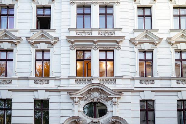 facade of a beautiful old house in Berlin Kreuzberg stock photo