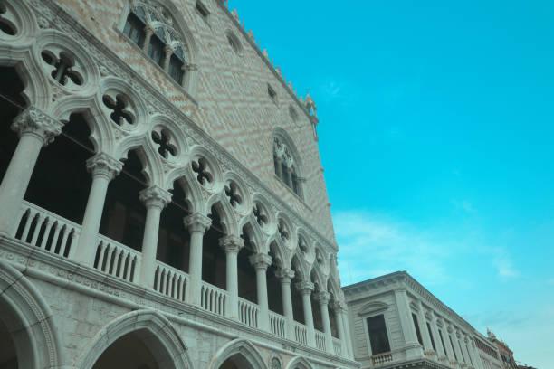 Facade of a building in Venice Italy stock photo